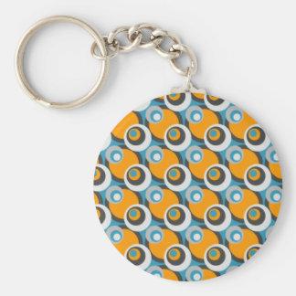 Porte-clés Rétros points bleus et oranges