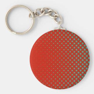 Porte-clés Rétros points rouges et verts