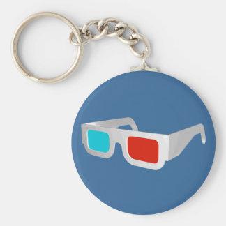 Porte-clés Rétros verres 3D graphiques
