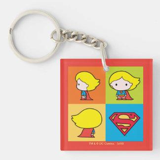 Porte-clés Revirement de caractère de Chibi Supergirl