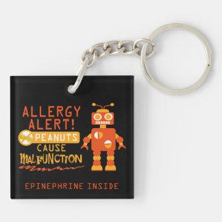 Porte-clés Robot d'orange d'alerte d'allergie d'arachide de