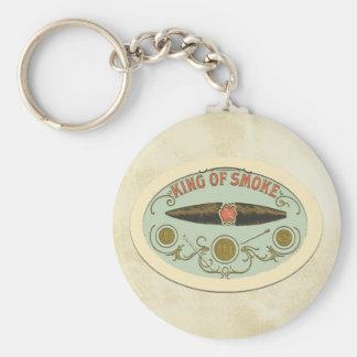 Porte-clés Roi d'amants de cigare d'étiquette de tabac de