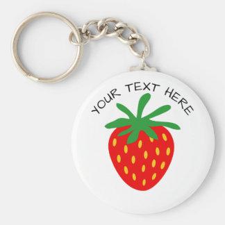 Porte - clés ronds de bouton de fruit rouge fait porte-clés