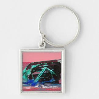 Porte-clés Rose abstrait de naufrage