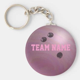 Porte-clés Rose de boule de bowling