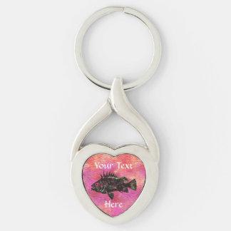 Porte-clés Rose de goujon de mer de Quillback - porte - clé