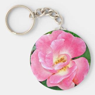 Porte-clés Rose luxuriant de rose de beauté singulière