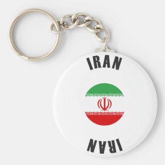 Porte-clés Roue de drapeau de l'Iran
