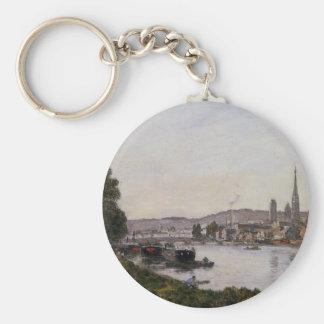 Porte-clés Rouen, vue au-dessus de la rivière la Seine par