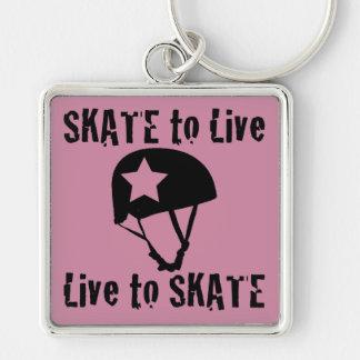 Porte-clés Rouleau Derby, patin à vivre vivant pour patiner,