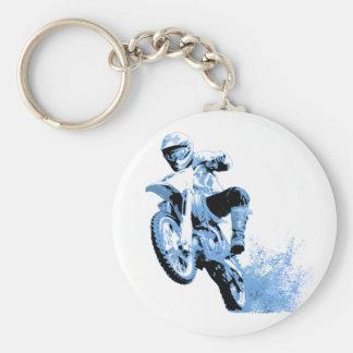 Porte-clés Roulement faisant du vélo de saleté dans la boue