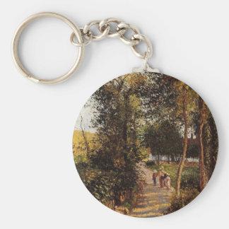 Porte-clés Route à Berneval-le-Petit par Camille Pissarro