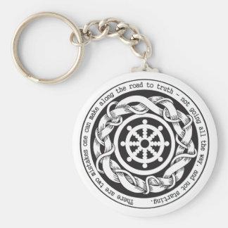 Porte-clés Route à la roue de Dharma de vérité