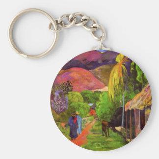 Porte-clés Route de Gauguin dans le porte - clé du Tahiti