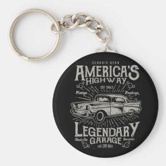 Porte-clés Route de la voiture | Hotrod américain classique