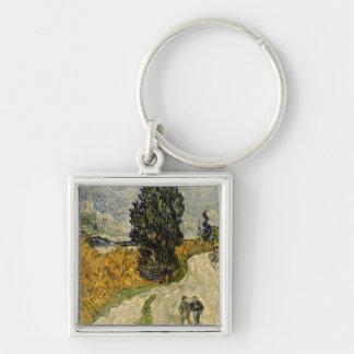 Porte-clés Route de Vincent van Gogh | avec des cyprès, 1890