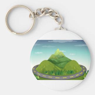 Porte-clés Route et montagne