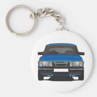 Porte-clés Saab 900 turbo (bleu)