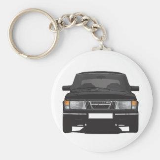 Porte-clés Saab 900 turbo (noir)