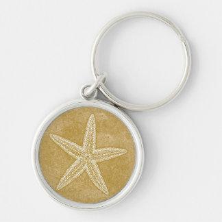 Porte-clés Sable de Tan d'étoiles de mer