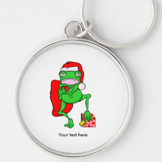 Porte-clés Santa peu de grenouille drôle d'aide d'Amphipian
