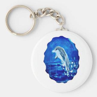 Porte-clés Saut de l'art de dauphin