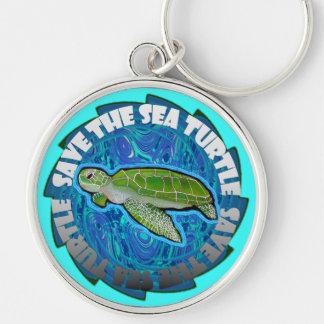 Porte-clés Sauvez le porte - clé de tortue de mer