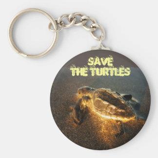 Porte-clés Sauvez les tortues