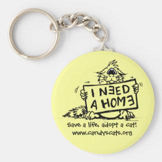 Porte-clés Sauvez une vie, adoptez un chat ! Porte - clé