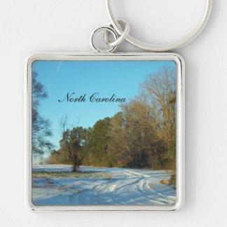 Porte-clés Scène d'hiver de la Caroline du Nord