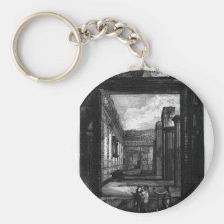 Porte-clés Sections transversales et longitudinales du temple