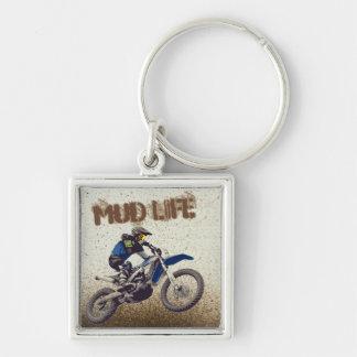Porte-clés S'enliser de boue de la vie de boue de vélo de