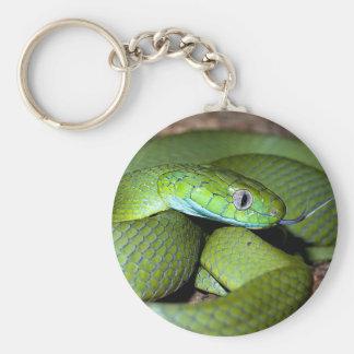 Porte-clés Serpent vert de chat