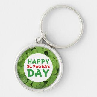 Porte-clés Shamrock keychain. du jour de St Patrick heureux