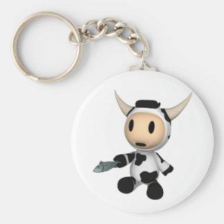 Porte-clés Sherman le porte - clé se reposant de vache