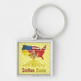 Porte-clés sicilien américain de racines
