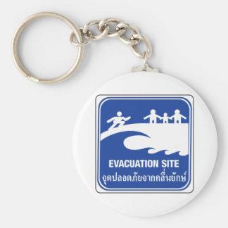 Porte-clés Signe de site d'évacuation, Thaïlande