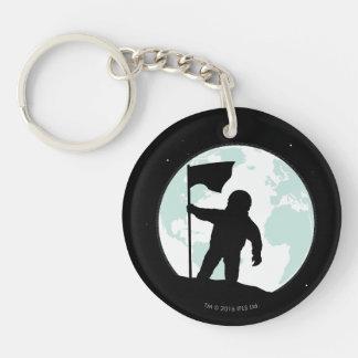 Porte-clés Silhouette d'astronaute