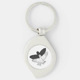 Porte-clés Silhouette Eagle de main