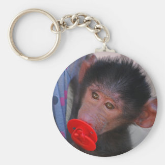 Porte-clés Singe secourue de bébé avec un simulacre