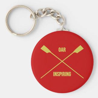 Porte-clés Slogan de inspiration d'aviron et avirons croisés