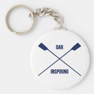 Porte-clés Slogan de inspiration d'aviron et marine croisée
