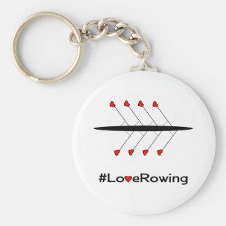Porte-clés Slogan et bateau d'aviron d'amour