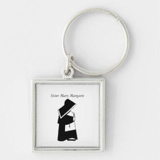 Porte-clés Soeur catholique de nonne dans le nom de coutume