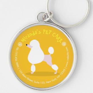 Porte-clés Soin des animaux familiers reposant l'illustration