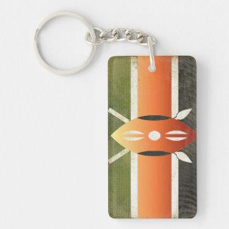 Porte-clés Souvenir de porte - clé de drapeau du Kenya