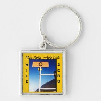 Porte-clés Souvenir du mille zéro de canalisation de l'Alaska