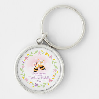 Porte-clés Souvenir mignon de M. et de Mme Honey Bee First