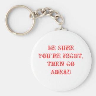 Porte-clés Soyez sûr que vous êtes porte - clé droit