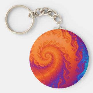 Porte-clés Spirale de fractale